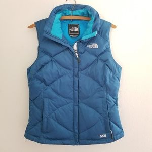 North Face 550 down filled puffer vest XS